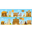 wild west game background daily life cowboys vector image vector image