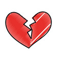 broken heart icon divorce end of love symbol vector image