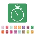 The stopwatch icon Stopwatch symbol Flat vector image