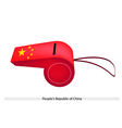 A Whistle of Peoples Republic of China vector image