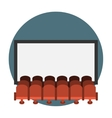 Cinema hall flat icon vector image