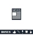 News icon flat vector image