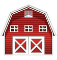 A red barn house vector image vector image