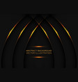abstract gold curve line weave on dark grey vector image vector image