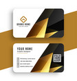abstract modern golden business card template vector image vector image