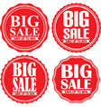 Big sale save up to 80 red label set vector image vector image