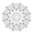 black and white circular winter mandala snowflakes vector image vector image