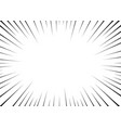 black radial lines for comics superhero action vector image vector image