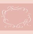 calligraphic elegant frame vector image