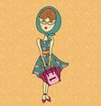 cartoon girl design vector image