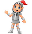 cartoon knight boy vector image vector image