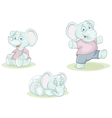 cartoon little elephant vector image vector image
