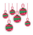 cartoon set collection garlands christmas vector image vector image