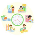 children schedule banner vector image
