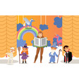 children theatre performance vector image vector image