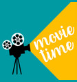 cinema projector in retro style flat design video vector image