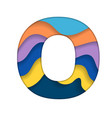 colorful letter o vector image vector image