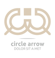 combination letter c arrow design vector image vector image