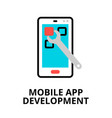concept mobile app development icon