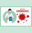 coronavirus in china novel coronavirus 2019-ncov vector image vector image