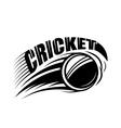 cricket badge template vector image