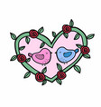 cute bird lover cartoon vector image vector image