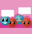 cute emojis cartoons vector image vector image