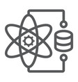 data science line icon data and analytics vector image vector image