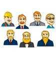 Different cartoon men vector image vector image