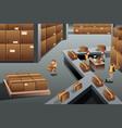 distribution warehouse vector image vector image