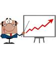 Economics teacher with graphs vector image