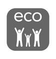 family child icon flat eco symbol vector image