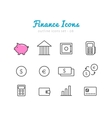 Financical icons set vector image vector image
