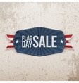 flag day sale greeting banner with ribbon vector image