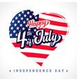 fourth july usa love emblem vector image vector image