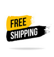 free shipping icon emblem logo in brush stroke vector image vector image