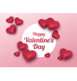 happy valentines day greeting card paper art vector image vector image
