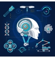 Hi-Tech Technology Concept vector image vector image