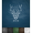 hipster deer icon Hand drawn vector image vector image