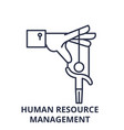 human resource management line icon concept human vector image vector image