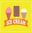 ice cream cartoon flat style vector image