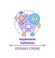 implement solutions concept icon vector image vector image
