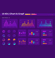 infographic ui elements kit vector image vector image
