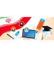 iran education school university concept with icon vector image vector image