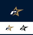 letter r logo template with star design element vector image vector image