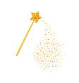 magic wand and gold sequins vector image vector image