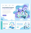 medical program for recovery set of websites vector image