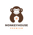 monkey house logo icon vector image