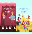 open air festival banners set vector image vector image