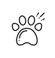 paw print line icon animal footprint sign and vector image vector image